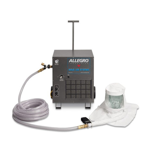 Allegro 9221-02CA Two-Worker Single Bib Tyvek Hood Cold Air Respirator System, 100' Airline Hoses
