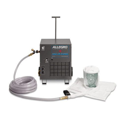 Allegro 9222-02CA Two-Worker Double Bib Tyvek Hood Cold Air Respirator System, 100' Airline Hoses