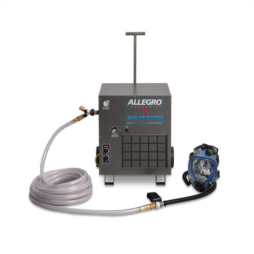 Allegro 9200-01CA One Worker Cold Air Full Mask System, 100' Airline Hose