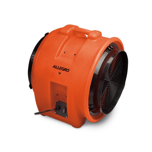 """Allegro 9539-16DC 16"""" Axial DC Industrial Plastic Blower, 12V"""