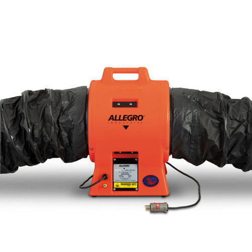 """Allegro 9539-12EXI 12"""" Axial Explosion-Proof (EX) Industrial Plastic Booster Blower"""