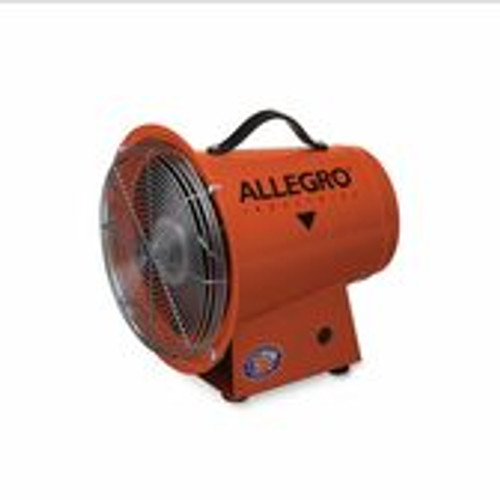 """Allegro 9513-05E 8"""" Axial Explosion-Proof (EX) Metal Blower, 220V/50 Hz"""