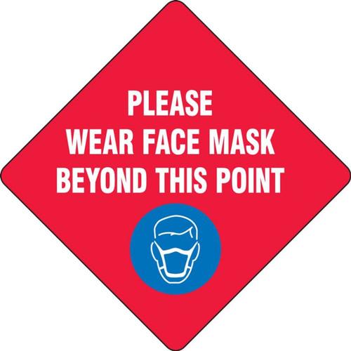Slip-Gard Floor Sign: Please Wear Face Mask Beyond This Point