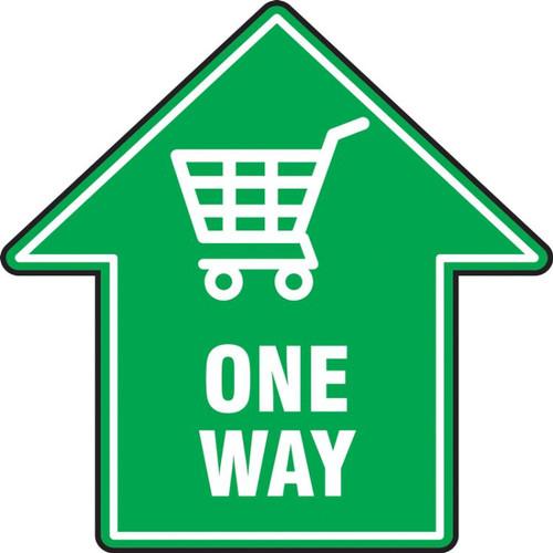 Slip-Gard Floor Sign: One Way