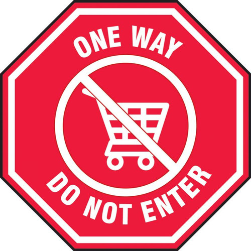 Slip-Gard Floor Sign: One Way Do Not Enter