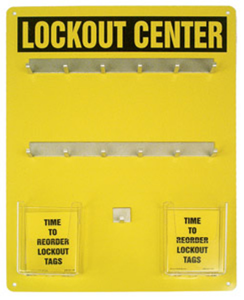Accuform KST412 - Lockout Center Aluminum Hanger Boards: 12-Padlock Board