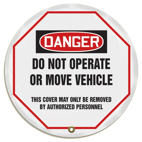 "Accuform KDD811 - OSHA Danger 16"" Steering Wheel Message Cover: Do Not Operate Or Move Vehicle"