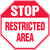 Restricted Area Sign MAST212XV
