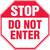 Stop do not enter sign MAST 204VS