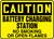 Caution - Battery Charging Station No Smoking Or Open Flames - Dura-Fiberglass - 10'' X 14''