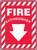 Fire Extinguisher (Arrow) - .040 Aluminum - 14'' X 10''
