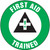 """First Aid Trained Hard Hat Label- 2 1/4"""" 10/pkg"""