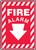 Fire Alarm (Arrow) - Adhesive Dura-Vinyl - 14'' X 10''