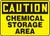 Caution Chemical Storage Area