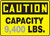 Caution - Capacity ___ Lbs. 1