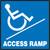 Access Ramp (W/Graphic) - Plastic - 7'' X 7''