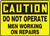 Caution - Do Not Operate Men Working On Repairs