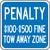 (virginia) Penalty $100-$500 Fine Tow Away Zone