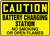 Caution - Battery Charging Station No Smoking Or Open Flames - Plastic - 10'' X 14''