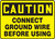 Caution - Connect Ground Wire Before Using - Adhesive Vinyl - 10'' X 14''