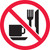 MISO528 ISO safety sign- no eating or drinking sign