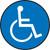 Slip-Gard™ Floor Sign: Handicap
