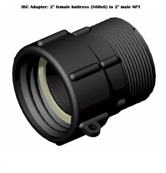 """IBC Adapter: 2"""" Female Buttress to 2"""" Male NPT"""
