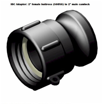 """IBC Adapter: 2"""" Female Buttress to 2"""" Male Camlock"""