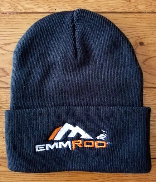 Emmrod beanies have arrived! All Black with fold made by Port Authority!