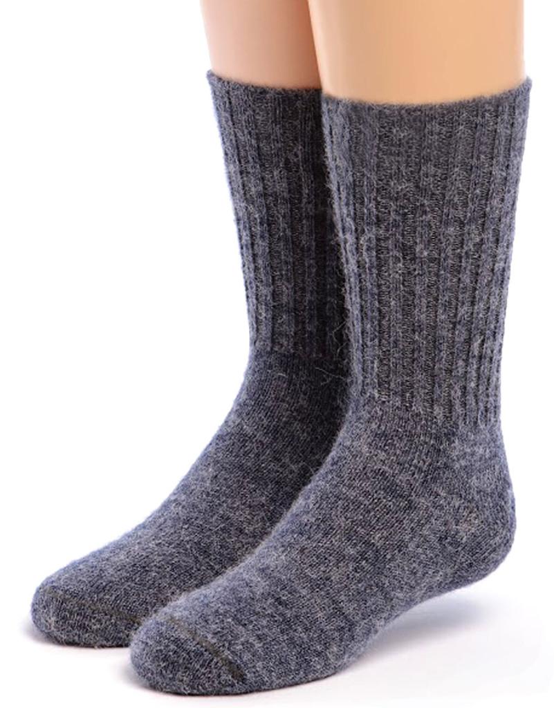 Kid's Superfine Alpaca Socks Denim Front