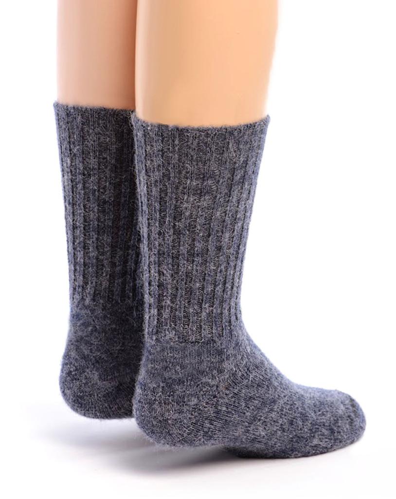 Kid's Superfine Alpaca Socks Denim Back