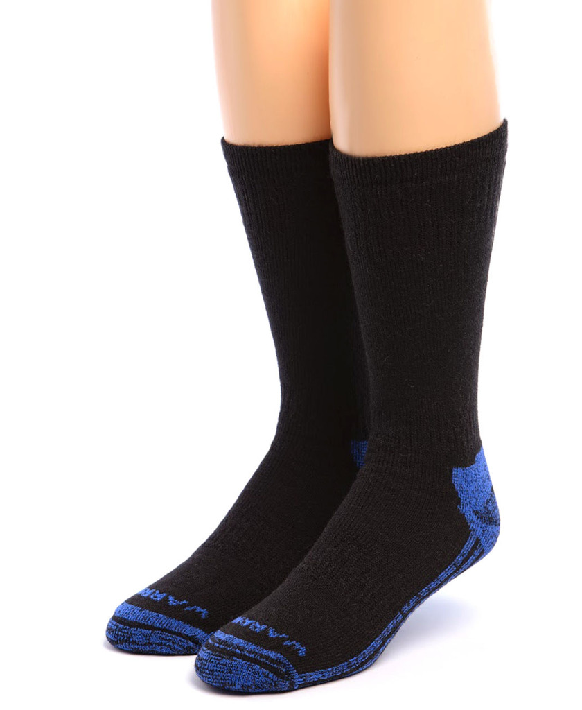 High Performance Crew Athletic Socks Black Front