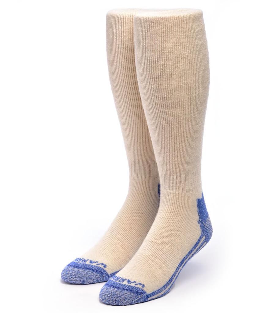 High Performance Knee High Athletic Alpaca Socks White Front