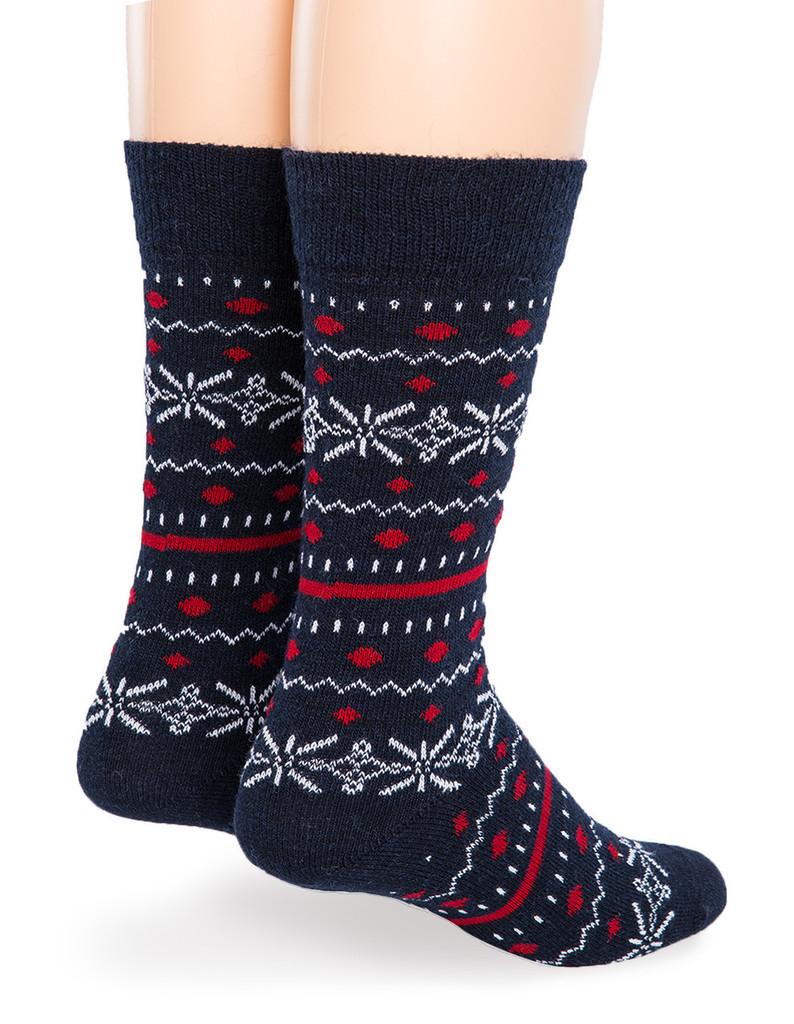 Fair Isle Crew Alpaca Socks - Back
