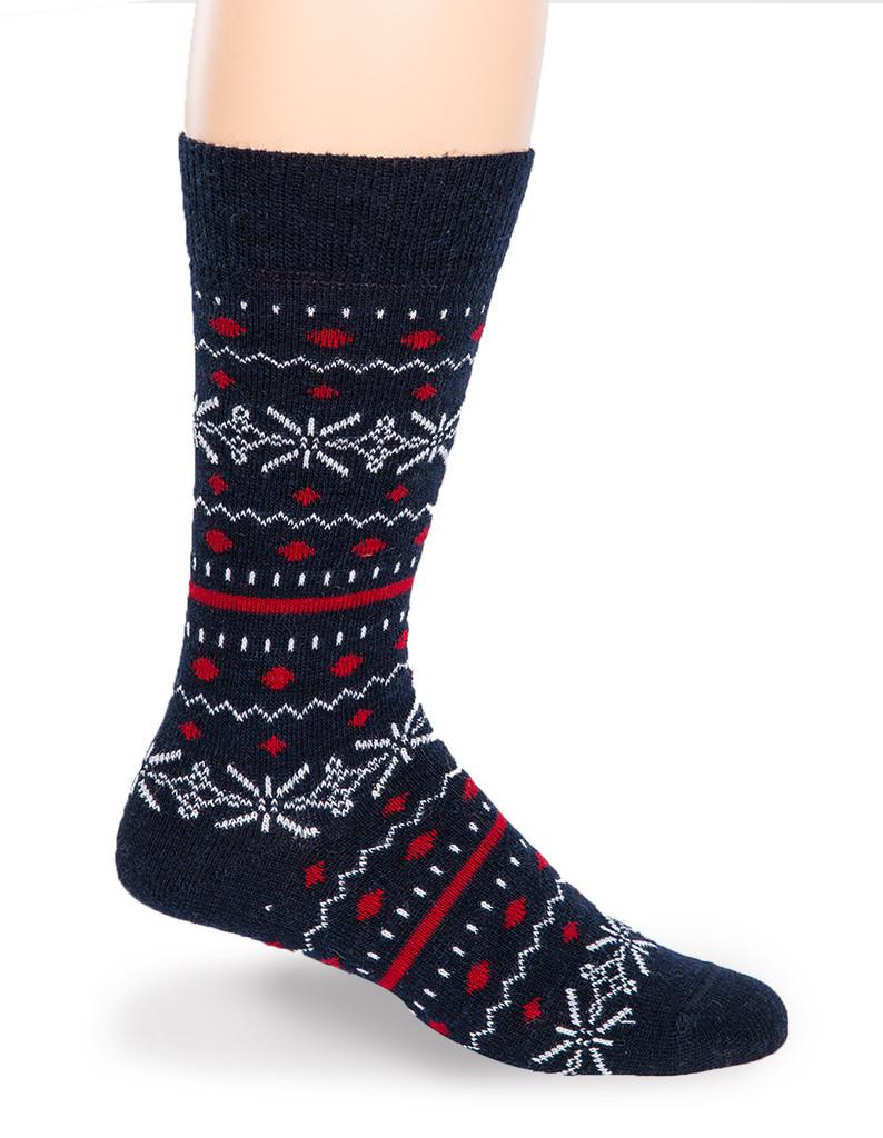 Fair Isle Crew Alpaca Socks  - Side