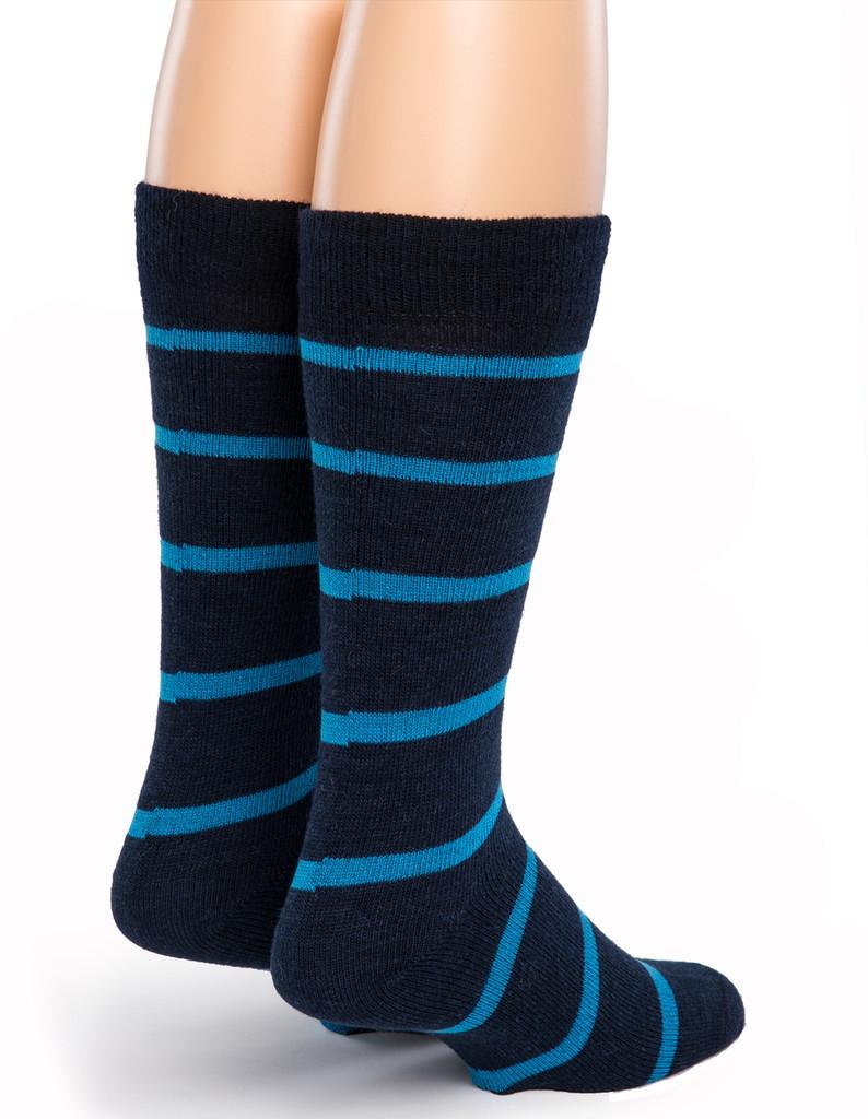 Alternating Stripe Socks - Back