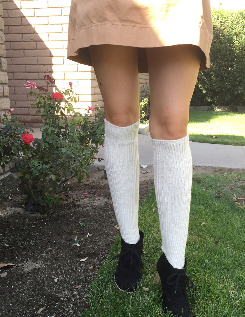 Old Fashioned Tender Tube Socks On Model
