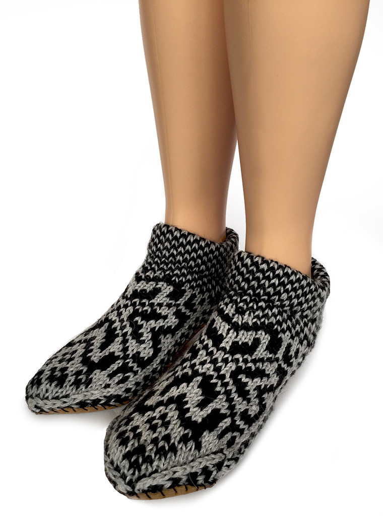 Nordic Star Alpaca Mukluk Footie Slippers Front side