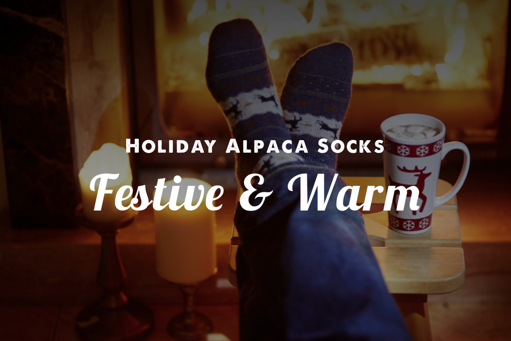Trendy Holiday Alpaca Socks