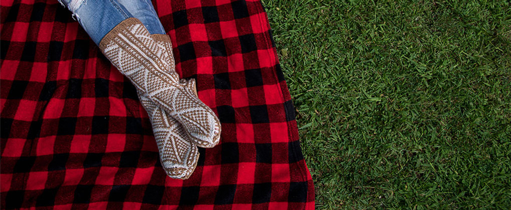 Get comfy in our casual alpaca socks