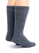 Wide Calf Crew Alpaca Socks- Back