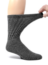Wide Calf Terry Lined Alpaca Socks - Expands for comfort.