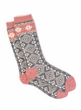 Women's Nordic Star Alpaca Wool Socks  Flat View
