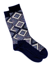 Women's Nordic Argyle Geometric Socks Flat View