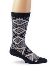 Women's Nordic Argyle Geometric Socks Side View