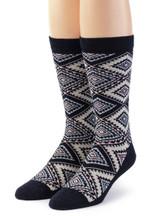 Women's Nordic Argyle Geometric Socks Front View