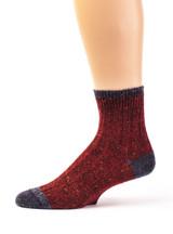 Heritage Speckle Ribbed Ankle Wool &  Alpaca Socks Side View