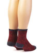 Heritage Speckle Ribbed Ankle Wool &  Alpaca Socks Back View