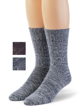 Spontaneous Space Dye Ribbed Casual Crew Socks  Main Thumbnail showing Color Options
