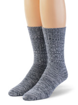 Spontaneous Space Dye Ribbed Casual Crew Socks  Front View